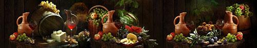 Скинали - Натюрморты фруктов, вина и сыра