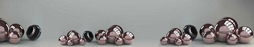 Скинали - Глянцевые шары на сером фоне