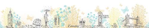 Скинали - Рисунки Лондона, ромашек и бабочек