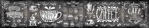 Скинали - Меловая доска с кофейными надписями и рисунками