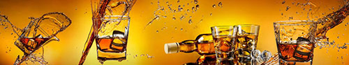 Скинали - Виски со льдом на ярком фоне