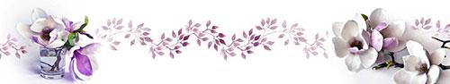 Скинали - Красивые цветы магнолии на белом фоне