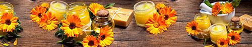 Скинали - Свечи, масла, оранжевые цветы