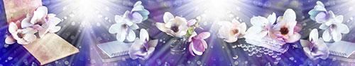 Скинали - Цветы магнолии в фиолетовом свете
