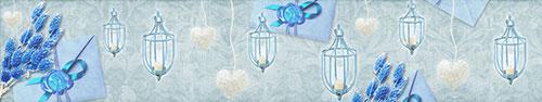 Скинали - Винтажный фон с письмами в голубом тоне