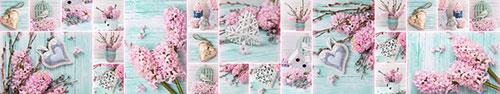 Скинали - Розовая сирень, милые поделки на бирюзовом фоне