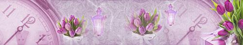 Скинали - Пурпурные тюльпаны на винтажном фоне