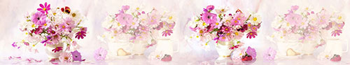 Скинали - Нежные цветы в вазах