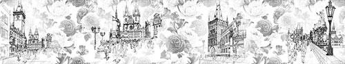 Скинали - Черно-белая Прага на фоне роз