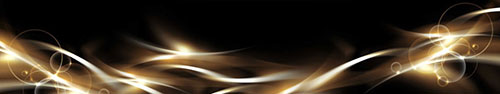 Скинали - Светящиеся волны на черном фоне