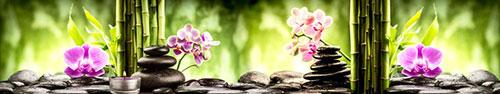 Скинали - Бамбук, камушки, орхидея