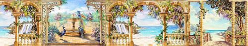 Скинали - Рисунки волшебных мест с павлинами