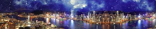 Скинали - Панорама ночного Гонконга