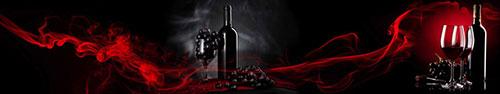 Скинали - Композиция с вином и красным дымом