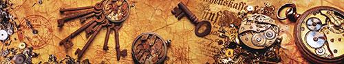 Скинали - Шестеренки, болтики, ключи - фон в стиле стимпанк