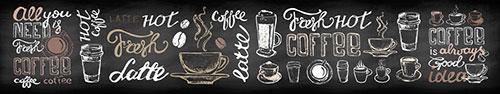 Скинали - Надписи и рисунки о кофе