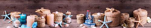 Скинали - Морское настроение на деревянном столе
