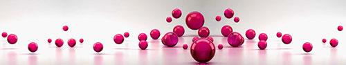 Скинали - Малинового цвета сферы в сером пространстве