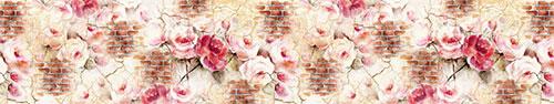 Скинали - Акварельные цветы на стене с трещинами