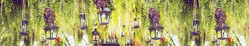Скинали - Декорации с фонарями и гроздьями винограда в саду