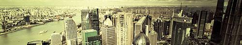 Скинали - Красивый вид Шанхая с высоты птичьего полета
