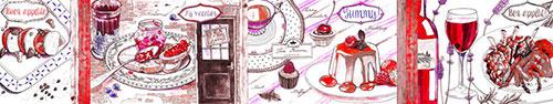 Скинали - Рисунки вкусной английской, итальянской и французской еды