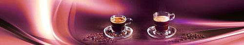 Скинали - Чашки ароматного кофе на абстрактном фоне