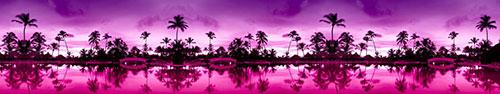 Скинали - Пальмы на розово-фиолетовом закате