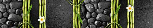 Скинали - Дзен камни, бамбук и франжипани в каплях воды