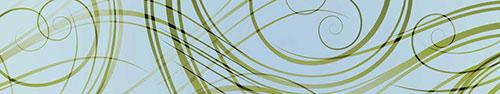 Скинали - Растительные волны-спирали на голубом фоне