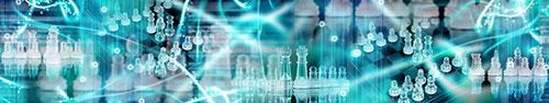 Скинали - Световая абстракция со стеклянными шахматами