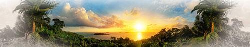 Скинали - Панорама потрясающего морского заката
