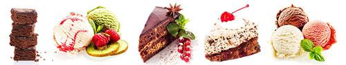 Скинали - Десерты на белом фоне