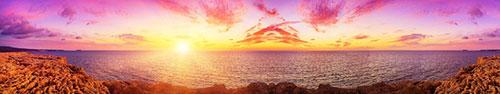 Скинали - Насыщенный по цвету закат над морем