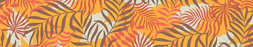 Скинали - Векторные ветви пальмы на ярком фоне