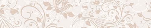 Скинали - Светлый фон с растительным узором
