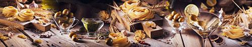 Скинали - Тальятелле, оливки и масло на вашем столе
