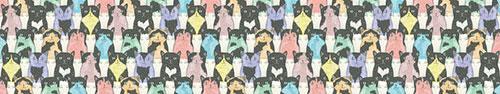 Скинали - Векторные рисунки котов в винтажном стиле