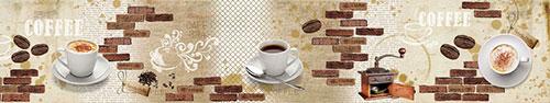 Скинали - Чашки кофе на винтажном фоне