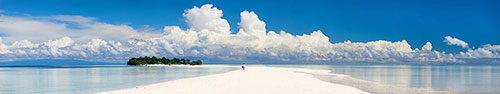 Скинали - Красивый пляж посреди моря