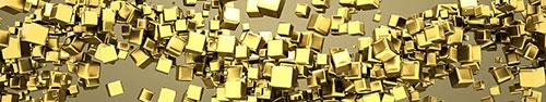 Скинали - Кристаллические золотые кубики