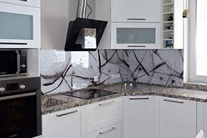Одуванчики для скинали в интерьере кухни - 22412