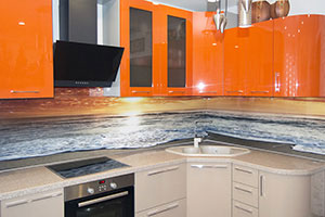Скинали для оранжевой кухни - 22476