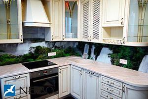 Водопады для скинали в интерьере кухни - 21835