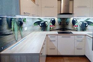 Оливки, маслины для скинали в интерьере кухни - 22297