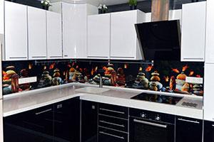 Рыбы для скинали в интерьере кухни - 22283