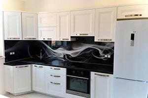 Дым для скинали в интерьере кухни - 22311