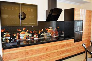 Рыбы для скинали в интерьере кухни - 22312