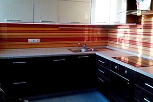 Линии, полосы для скинали в интерьере кухни - 22255