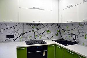 Линии, полосы для скинали в интерьере кухни - 22271